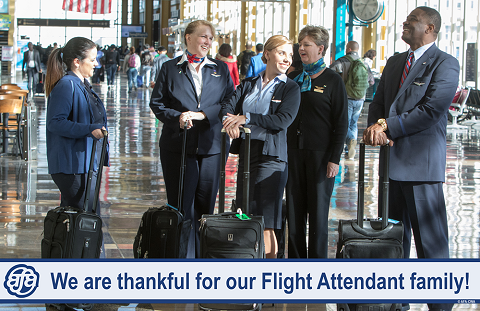 Grateful for Our Flight Attendant Family